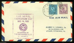 UNITED STATES  AIRMAIL PROMOTION DAY COVER 12/14/32  ARCHBOLD OHIO