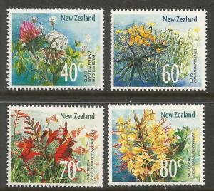 NEW ZEALAND  942-945 MNH  WILDFLOWERS SET 1989