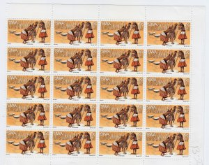 South West Africa - #404 - 1977 - MNH - Sheet of 20 stamps - CV$10.00
