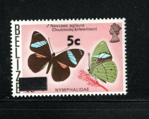 Belize SC386 Beautiful Butterfly-Surcharged MNH 1977