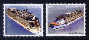 St. Martin Sc# 39-40 MNH Cruise Ships (Part 1)