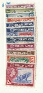 PITCAIRN ISLANDS # 20-30 VF-MNH CAT VALUE $40+