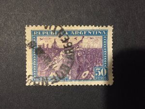 Argentina US stamp, Revolution of 1930, 50 peso, 1/2c Cat: SG#AR604