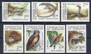 1993 Uzbekistan 7-13 Reptiles