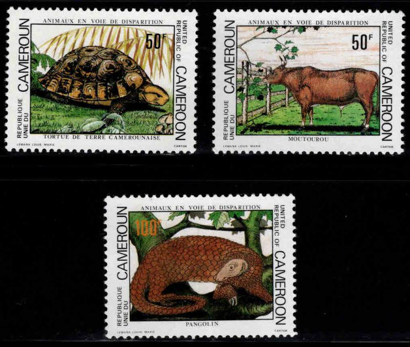 Cameroun Scott 691-693 Mint No Gum wildlife set