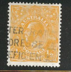 AUSTRALIA Scott 20 used orange 1923