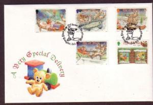 Isle of Man Sc 803-7 1998  Christmas stamp set FDC