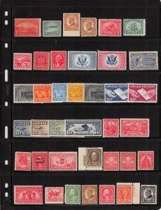 Lot of 84 U.S. MNH Mint Stamps Scott Range # 372 - 800 & BOB / Airmail #139967 X