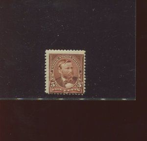 Scott 255 Grant Unwatermarked Mint NH Stamp (Stock 255-4)