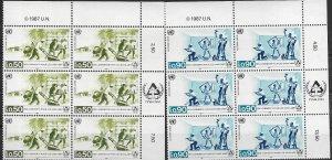1987 United Nations Geneva Shelter for Homeless  SC# 154-155 Mint