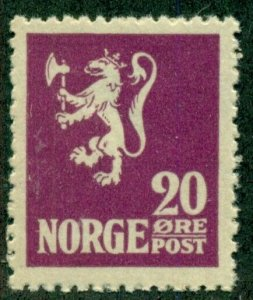NORWAY #101, Mint Never Hinged, Scott $51.00