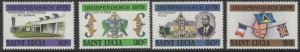 ST.LUCIA SG486/9 1979 INDEPENDENCE MNH