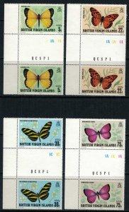 Virgin Is. #342-5* NH gutter pairs  CV $14.40+  Butterflies
