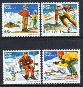 New Zealand MNH 799-802 Skiing 1984