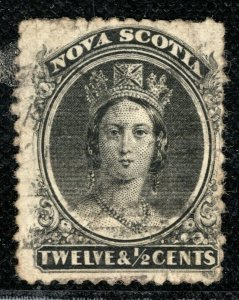 Canada NOVA SCOTIA QV Stamp 12½c Used BL2WHITE46