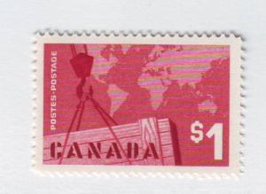 Canada Sc411 1963 $1 Export Trade stamp mint NH