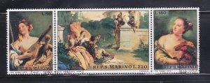 San Marino 735a Set U Art, Paintings (B)