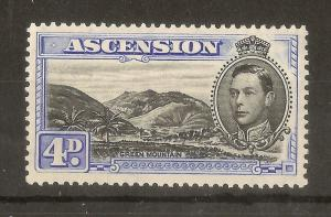 Ascension 1940 4d SG42c P13.5 Mint Cat£17