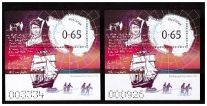 BULGARIA 2019  GREAT EXPLORERS : Robert Scott 2 s/s  MNH