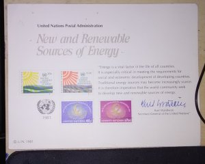 United Nations  Vienna Presentation card from 1981