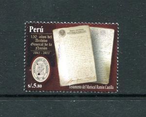 Peru 1788, MNH, National Archives 2011. x29729