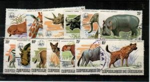 Burundi Scott 589a-601a Used (Catalog Value $595.00)