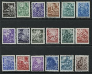 Germany DDR German Workers definitives to 84 pf unmounted mint NH