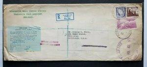 1948 IRELAND DUBLIN REGISTERED AIRMAIL TO USA