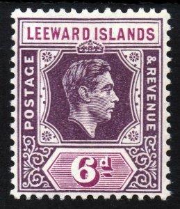 LEEWARD ISLANDS King George VI 1938-51 6d. Purple & Orange SG 109 MINT