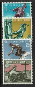 Liechtenstein SC# 289-292, Mint Hinged, Hinge Remnant - S3032