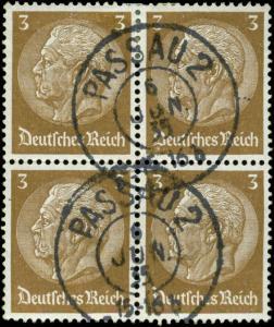 Germany Scott #416 Block of 4 Used