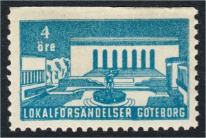 Sweden Goteborg Local Post Stamp Lokalforsandelser c.1940s MNH