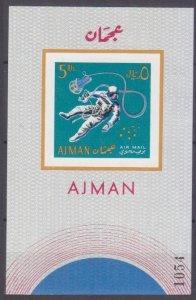 1968 Ajman 270/B37b Astronaut in space