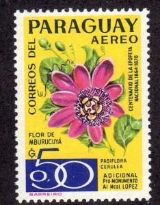 Paraguay (NSL) - Mint-NH - Mburucuya Flower (yellow / pink)