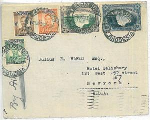 WATERFALLS - SOUTHERN RHODESIA  - POSTAL HISTORY:  AIRMAIL COVER to ITALY 1939