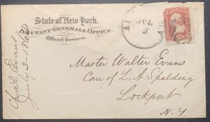 Scott #64 on cover.  Used Average.  Letter dated July 3rd, 1862.