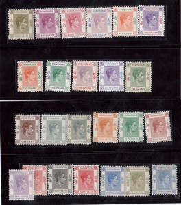 Hong Kong #154 - #166a VF/NH Set