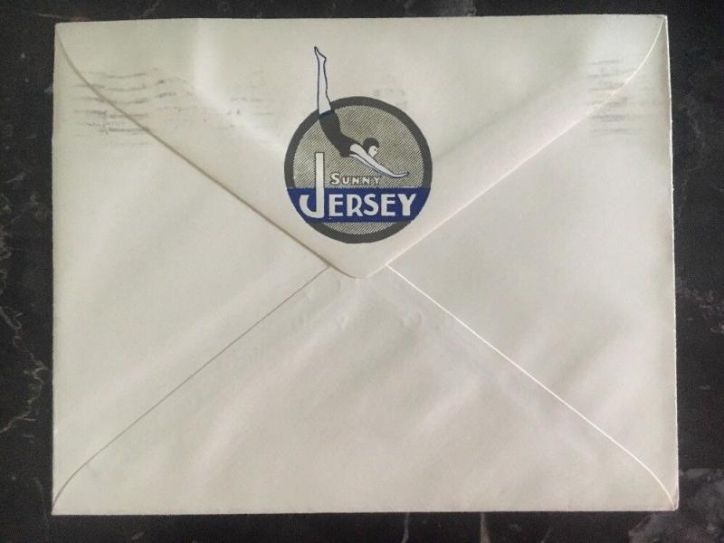 1943 Jersey Channel Islands Occupation First Day Cover FDC Liberty Tours Agency