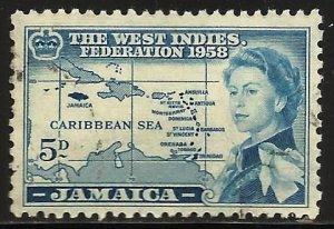 Jamaica 1958 Scott# 176 Used