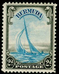 BERMUDA SG112, 2d Light Blue & Sepia, LH MINT. Cat £50.