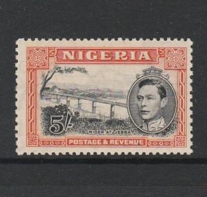 Nigeria 1938/51 5/- P13 x 11.5 MM SG 59