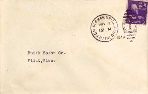 United States Louisiana Hospital Br. Alexandria 1940 numeral duplex  DPO  Bit...