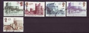J19712 Jlstamps 1992-5 great britain set used #1445-8 castles syncopated