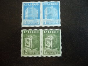 Stamps - Cuba - Scott#558,C135 - Mint Hinged Set of 2 Stamps in Pairs