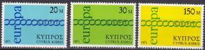 Cyprus #365-7  MNH   CV $2.60  (A19917)