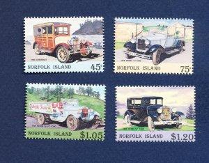 NORFOLK ISLAND - 569-572  - VF MNH - Cars  - 1995