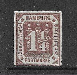 Hamburg 24 MNH f-vf, see desc. 2019 CV$40.00