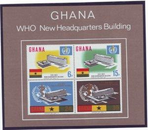 Z561 Jlstamps 1966 ghana s/s mnh #250a who headquarters