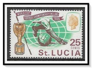St Lucia #208 World Cup Soccer MNH