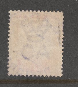British Guiana a 48c from 1889 fiscal used but reversed watermark